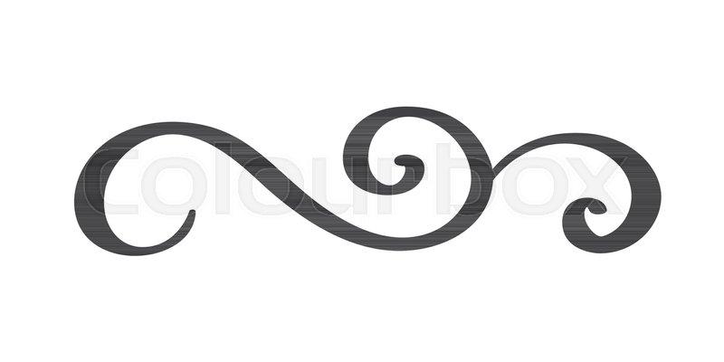 Vintage Hand Drawn Flourish Separator Calligraphy Elements Symbol