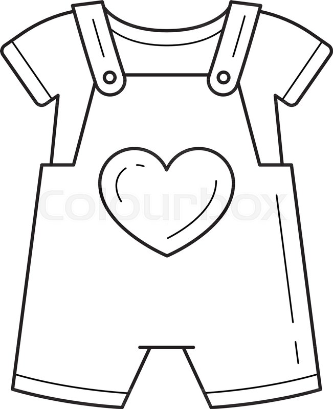 d994ce2524b9 Baby romper vector line icon isolated on white background. Clothes for  children - little romper and t-shirt line icon for infographic
