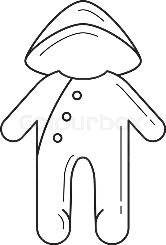 b322eb797b6d Baby sleepsuit vector line icon ...