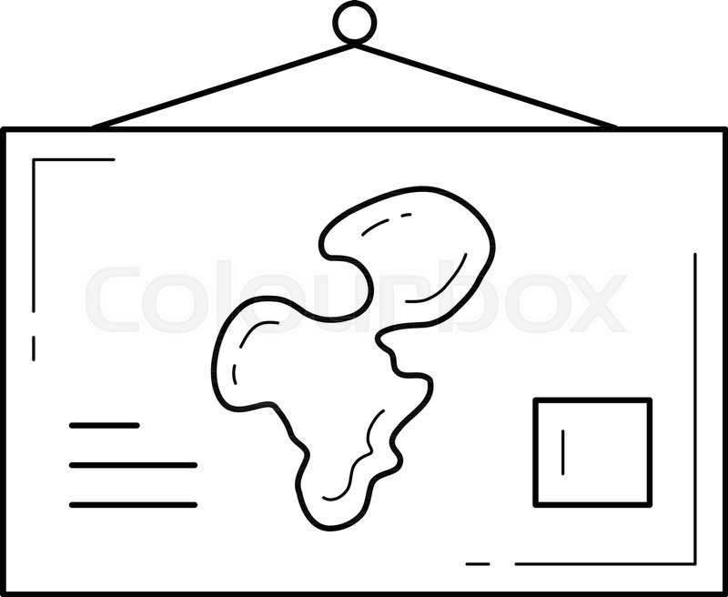World map vector line icon isolated on white background school world map vector line icon isolated on white background school world map hanging on the wall line icon for infographic website or app gumiabroncs Images
