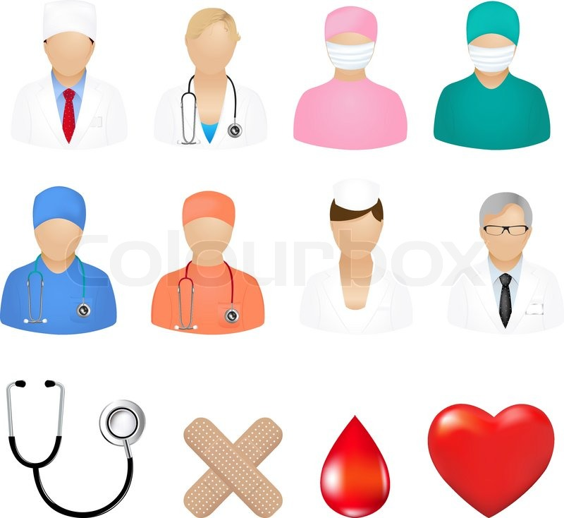 medical icons isolated on white background vector illustration rh colourbox com vector medical logo vector medical llc