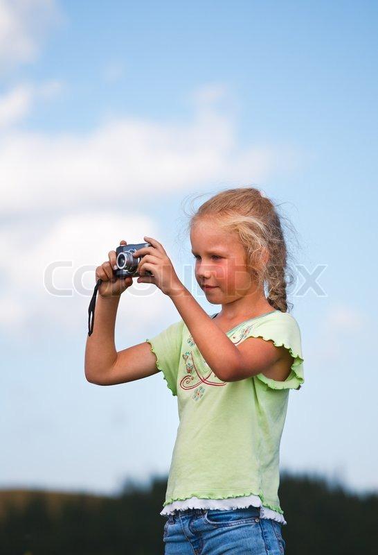 Portrait Of Nice Little Girl Stock Photo Colourbox