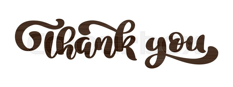 thank you hand drawn text phrase lettering word graphic vintage