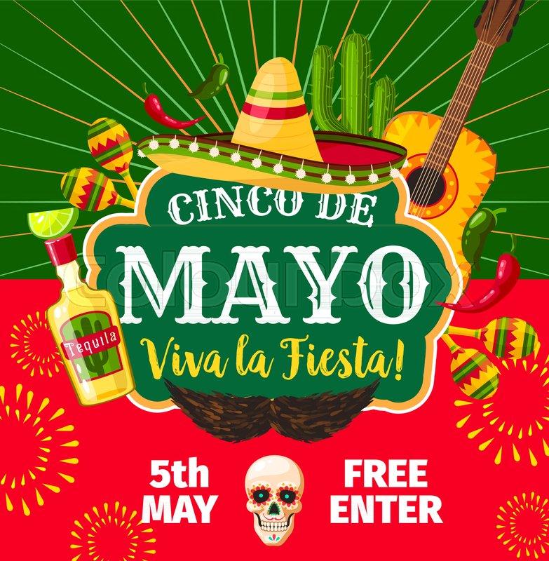 cinco de mayo mexican party invitation card for mexico traditional