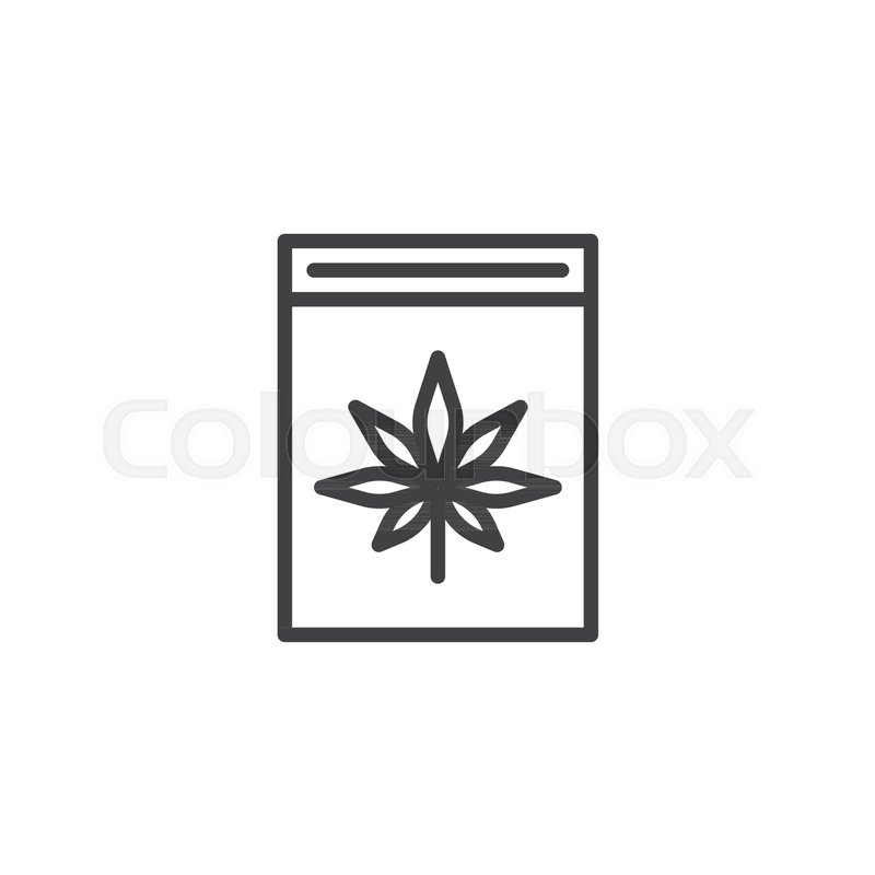 Cannabis Box Outline Icon Linear Style Sign For Mobile Concept And