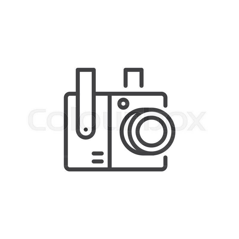 Cctv Surveillance Camera Outline Icon Linear Style Sign For Mobile