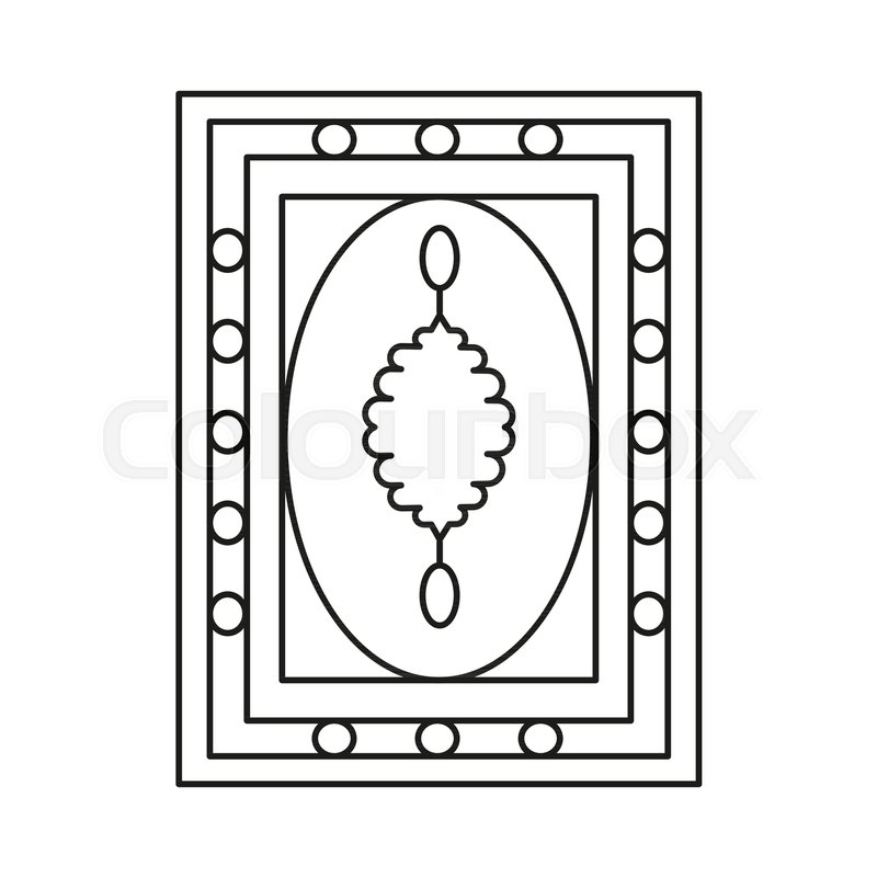 Stock Vector Of Turkish Carpet Icon Outline For Web Design