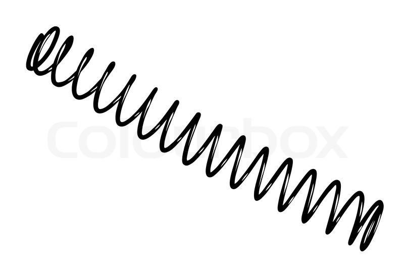 steel spring on white background  vector illustration