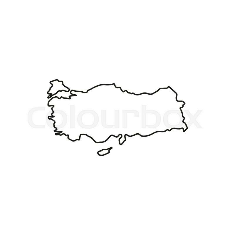 Turkey map icon Outline turkey map vector icon for web design