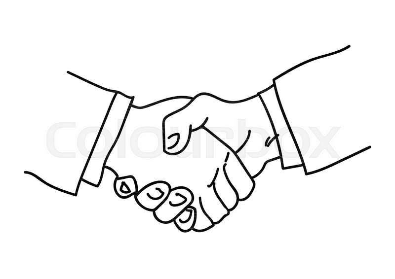 Handshake. Symbol of ... | Stock vector | Colourbox