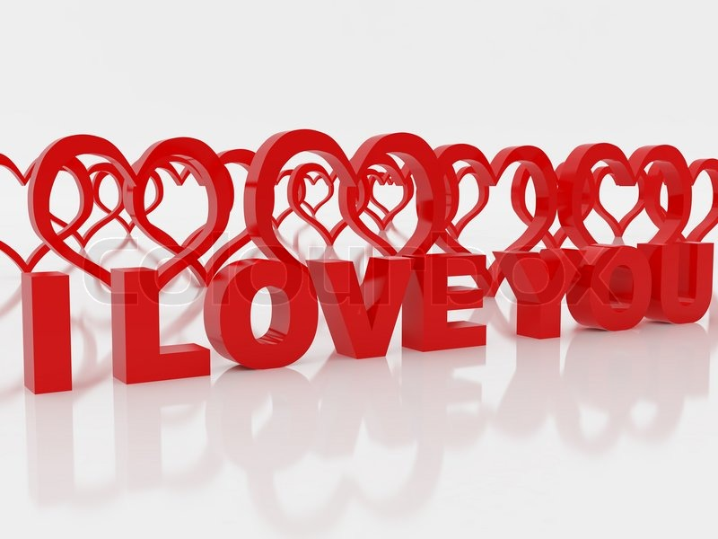 High Resolution Image Symbol Of Love 3d Illustration Over Stock