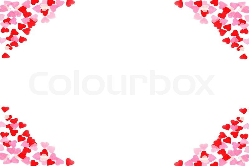valentine heart on white background