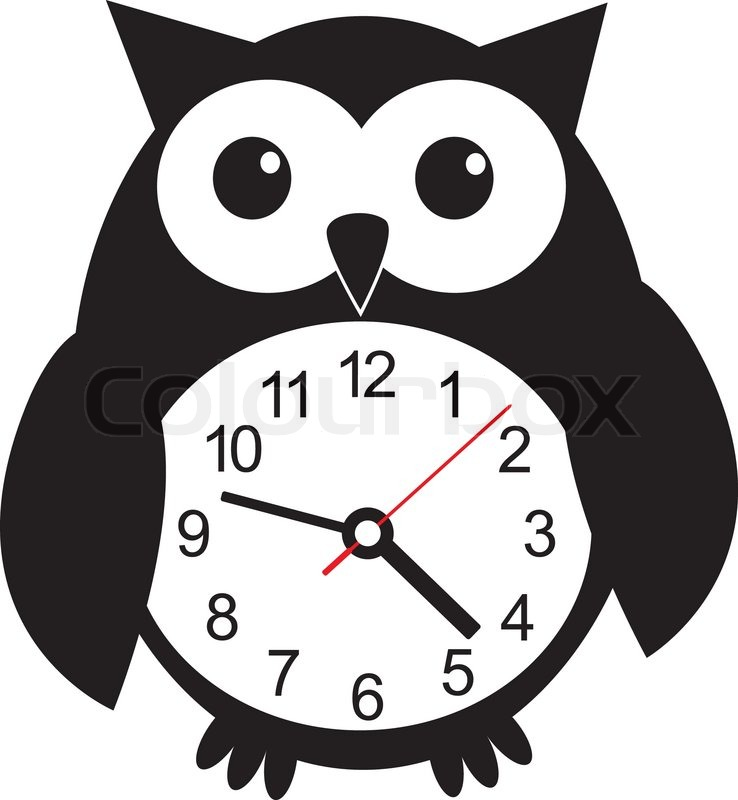 cute wall clock owl sticker colorful vector illustration clip art alarm clocks free clip art alarm clock going off