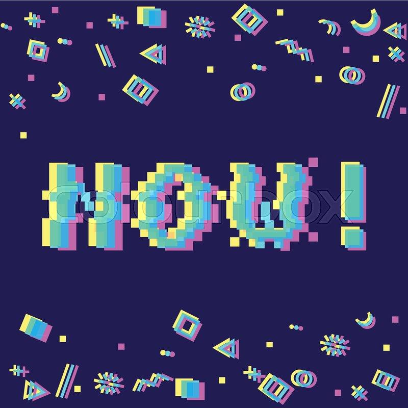 Vector 8bit pixel art colorful     | Stock vector | Colourbox