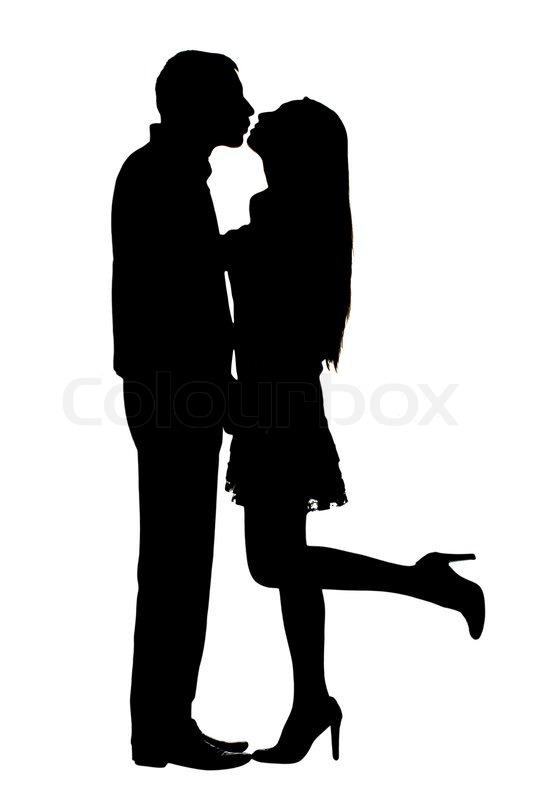 Silhouetten Auf Paar Unter Dem Wei 223 En Stock Bild