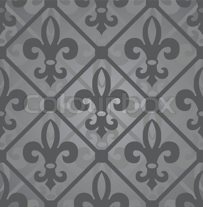 Dark Royal Pattern Seamless Wallpaper Retro Background Vector
