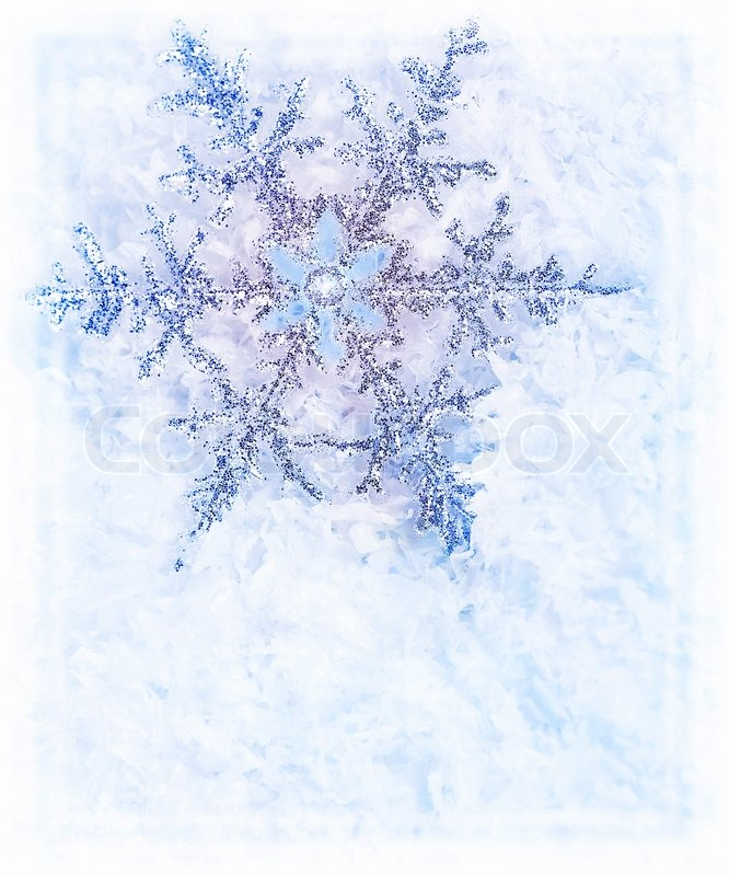 frozen christmas tree decorations snowflake blue background beautiful cold frozen snow border - Frozen Christmas Tree Ornaments
