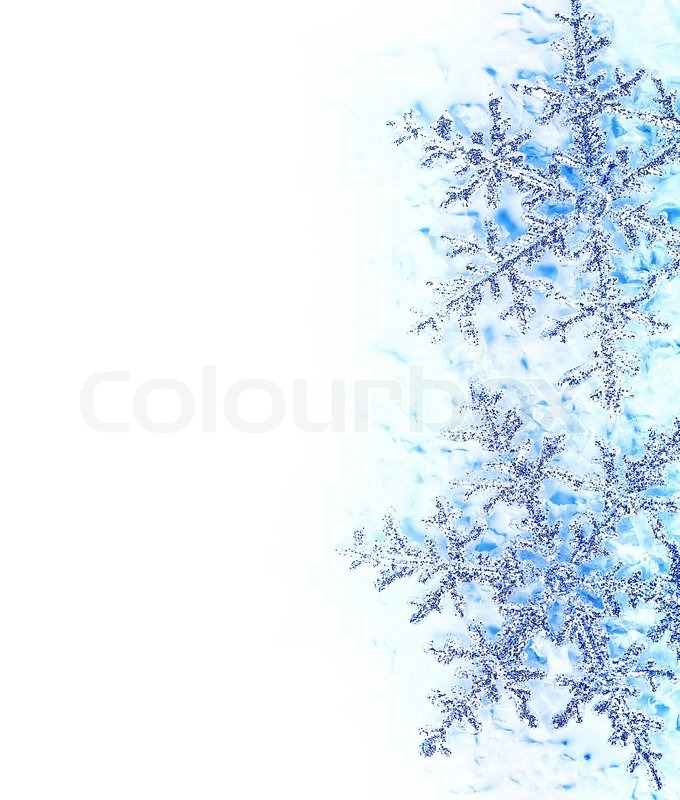 Spring leaves border over white background stock photo