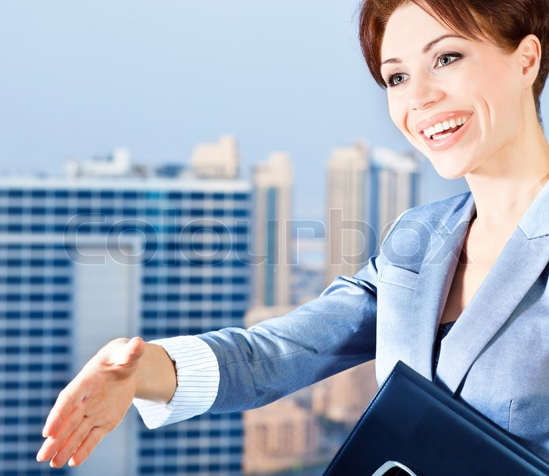 Successful Businesswoman Making A Deal Young Smart Office
