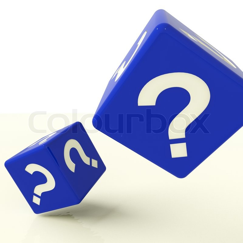 Question Mark Dice As Symbol For Questions And Answers Stock Photo