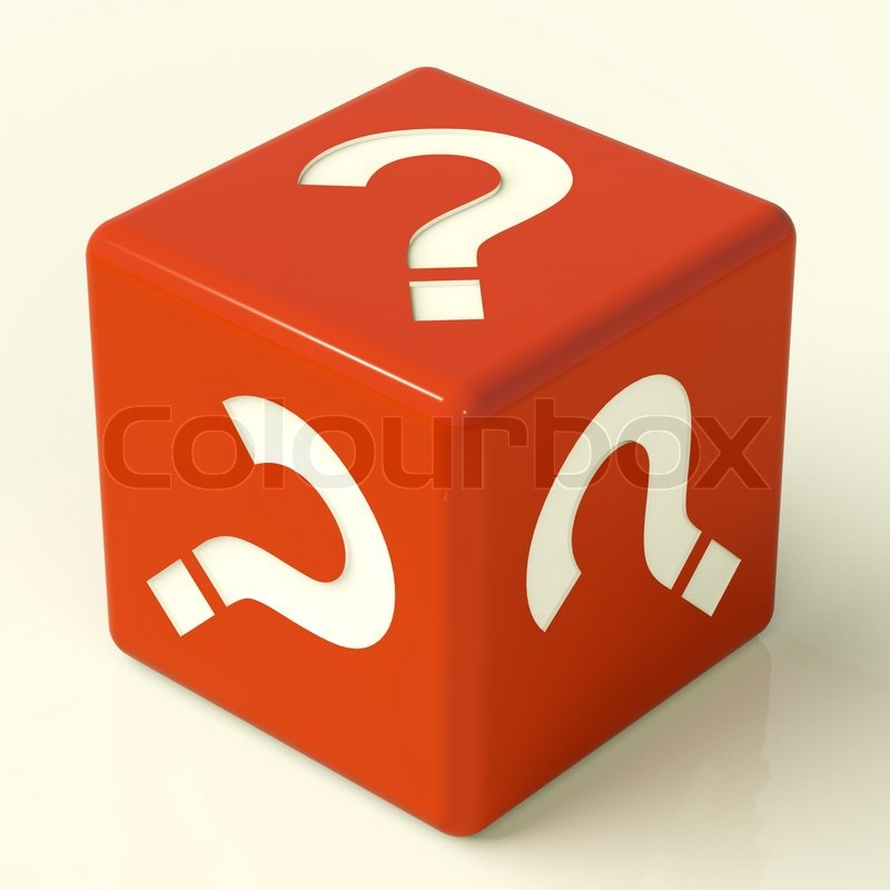 Question Mark Dice As Symbol For Information Stock Photo Colourbox