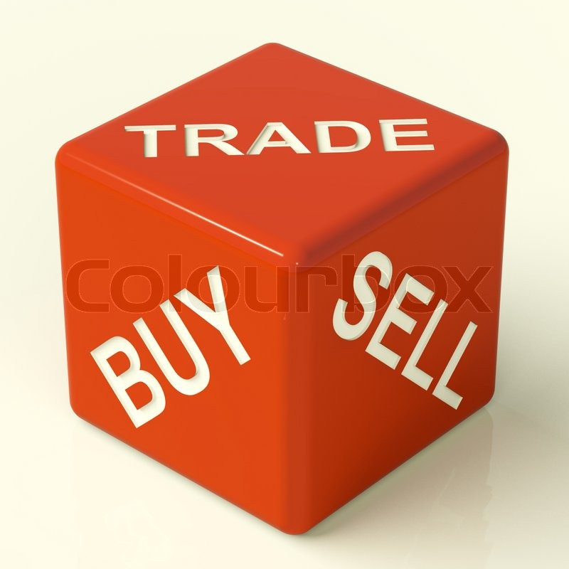 Buy Trade And Sell Dice Representing Business And