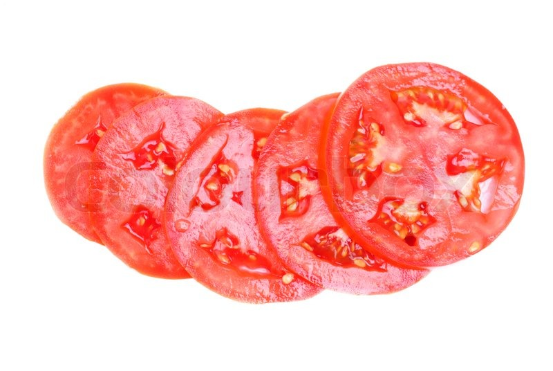 Cartoon Tomato Slice S...