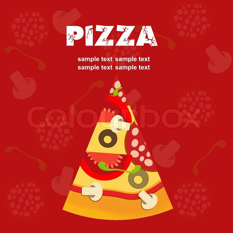 Pizza Menu Template, Vector Illustration | Stock Vector | Colourbox