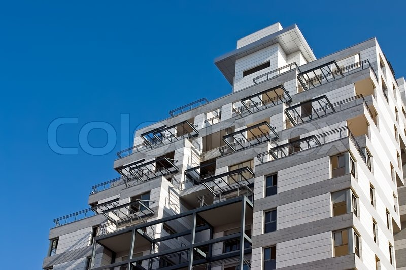Residential building construction site and blue sky ...