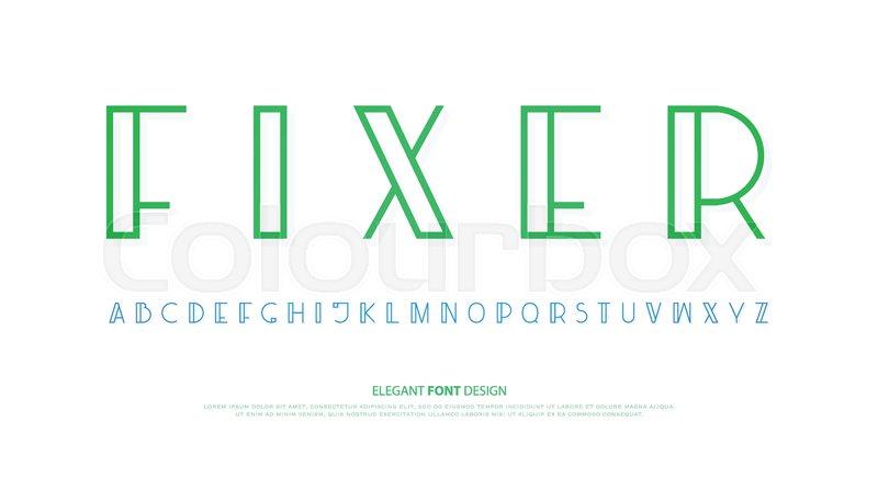 Regular Alphabet Letters Vector Font Type Design Modern Lettering