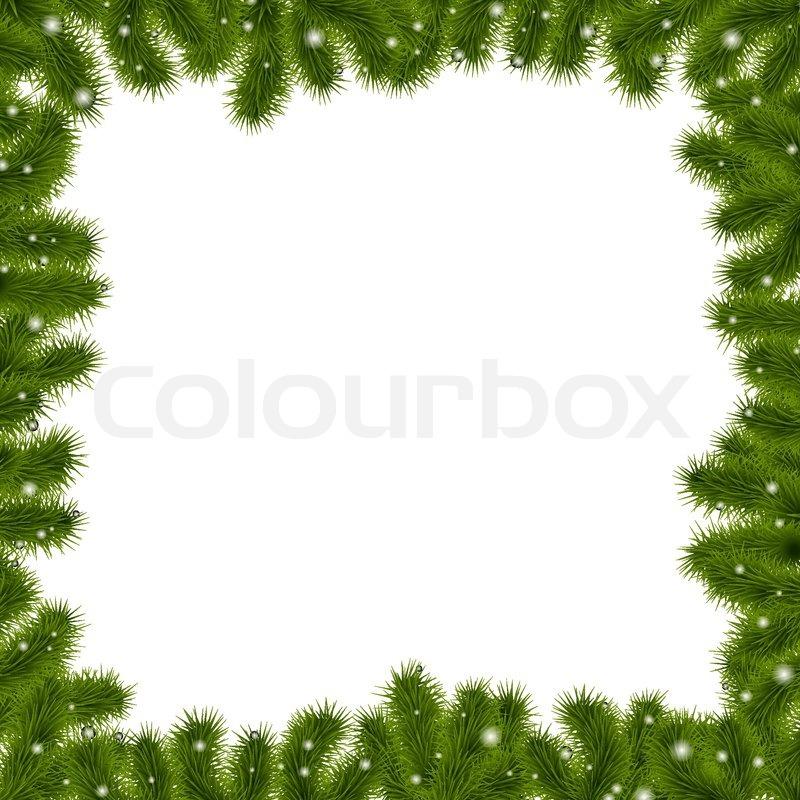 grenze tanne ste mit goldenen sternen vektorgrafik colourbox. Black Bedroom Furniture Sets. Home Design Ideas