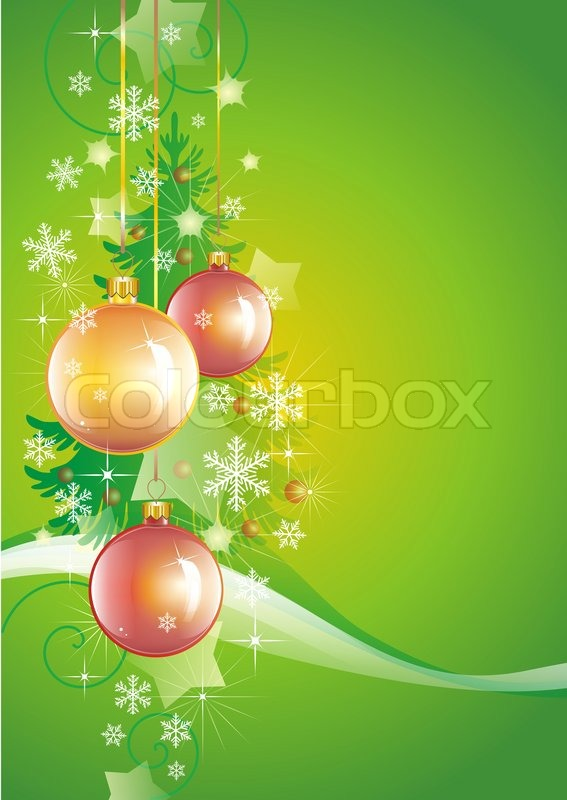 Beautiful Vertical Background Devoted To New Years Holidays And Christmas