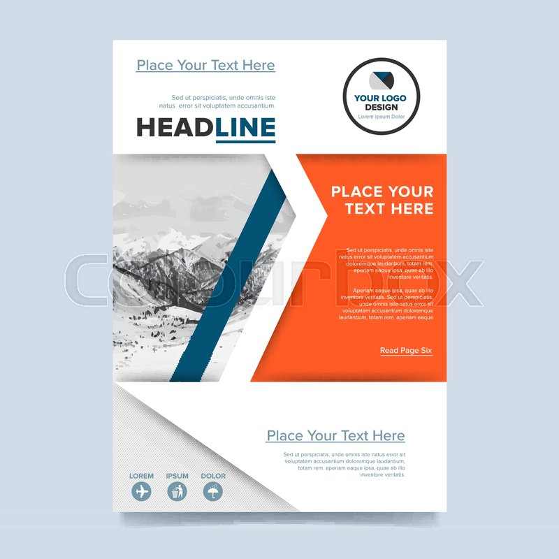 booklet or flyer abstract presentation templates creative concept in bright colors brochure layout design vector illustration stock vector colourbox - Colorful Brochure Templates