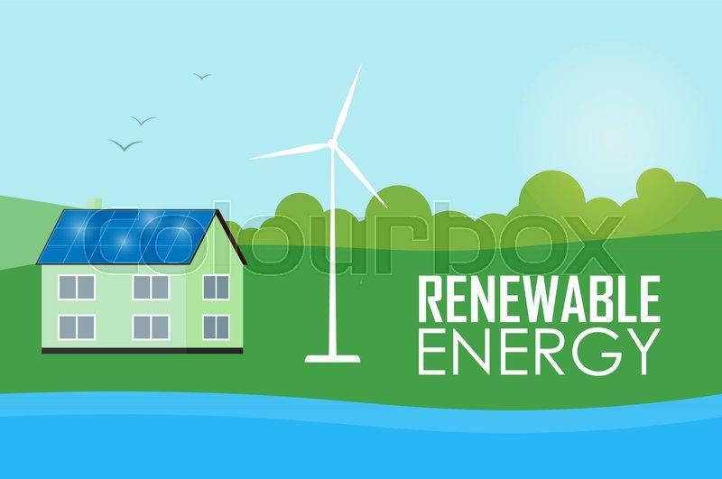 Renewable energy vector illustration      | Stock vector