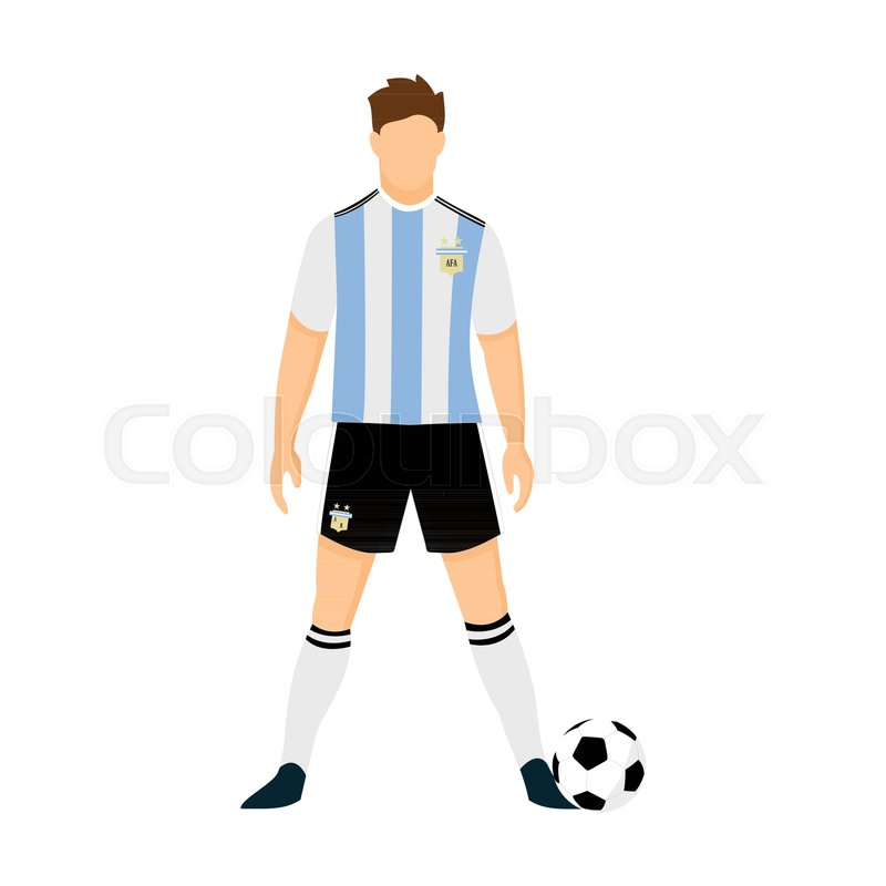 a5ed62c434a Argentina Football Jersey National ... | Stock vector | Colourbox