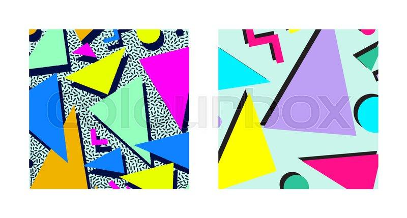 Set of Retro vintage 80s or 90s     | Stock vector | Colourbox