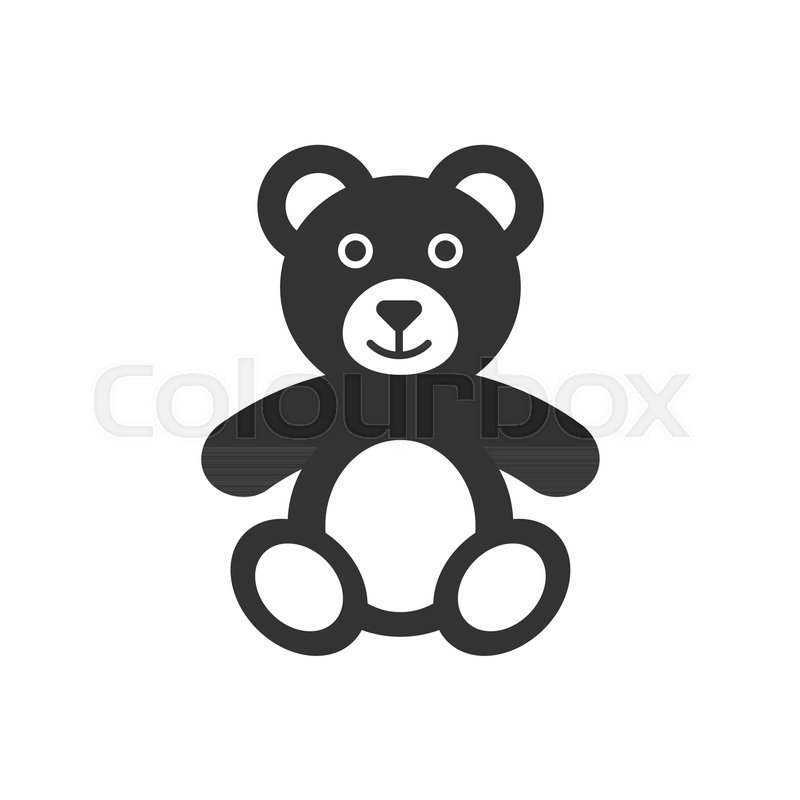 teddy bear plush toy icon vector illustration business concept