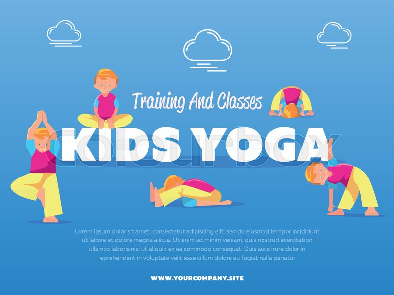 Training and classes kids yoga vector     | Stock vector