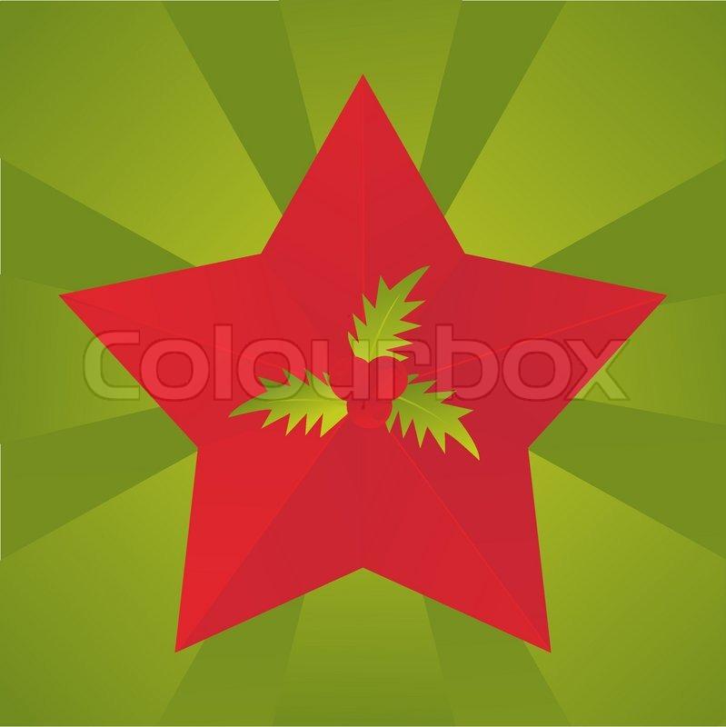 Weihnachtsstern Hintergrund   Vektorgrafik   Colourbox