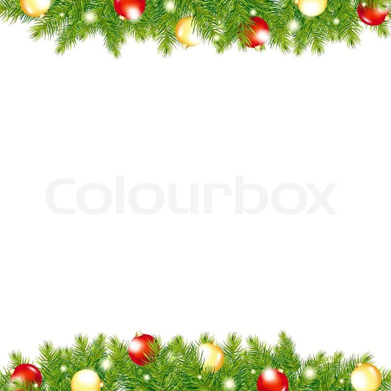 xmas and happy new year border vector illustration stock vector rh colourbox com christmas border vector png christmas border vector images