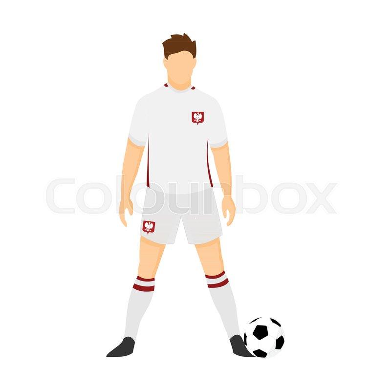 1706c37beab Poland Football Uniform National Team ... | Stock vector | Colourbox
