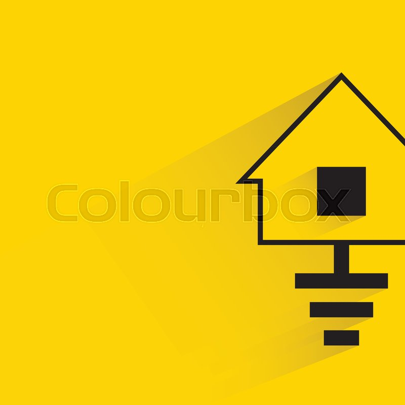 Home ground, ground electricity symbol in yellow background   Stock ...