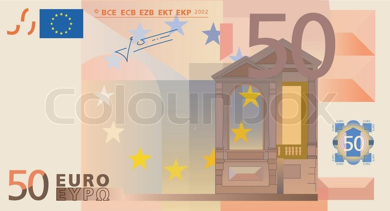 vector drawing of a 3x 50 euro bills isolated stock vector colourbox. Black Bedroom Furniture Sets. Home Design Ideas