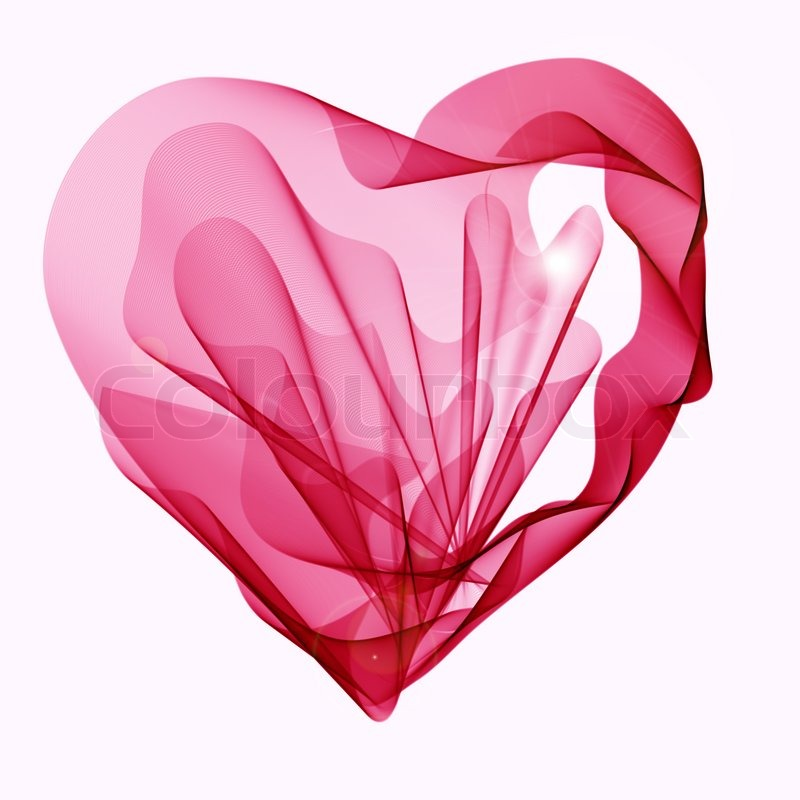 Beautiful Valentine\'s background with abstract pink and red heart ...