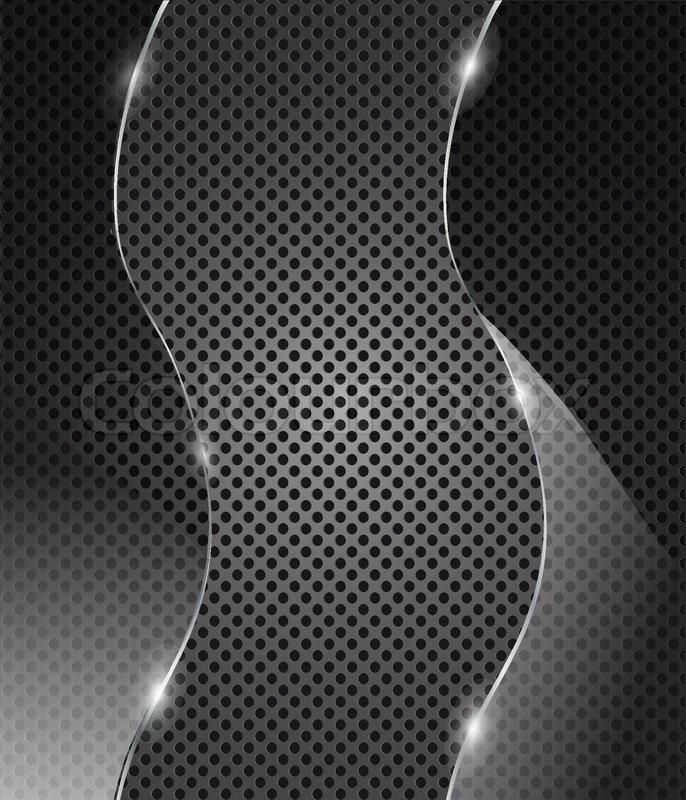 0121efe3f892 Vector glass frame on metal background