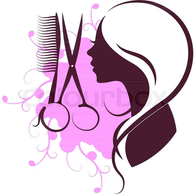 Hair Salon Scissors Beauty Vector Stock Vector