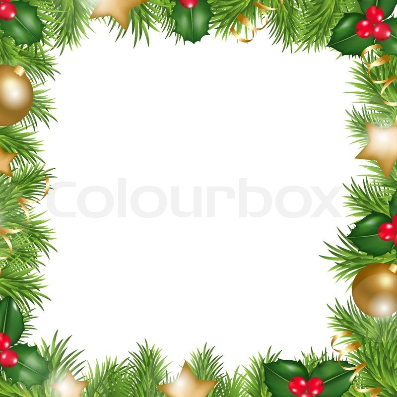 merry christmas border isolated on white background vector illustration stock vector colourbox