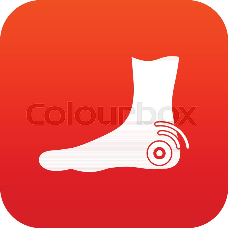 7d1044464bf Foot heel icon digital red for any ... | Stock vector | Colourbox