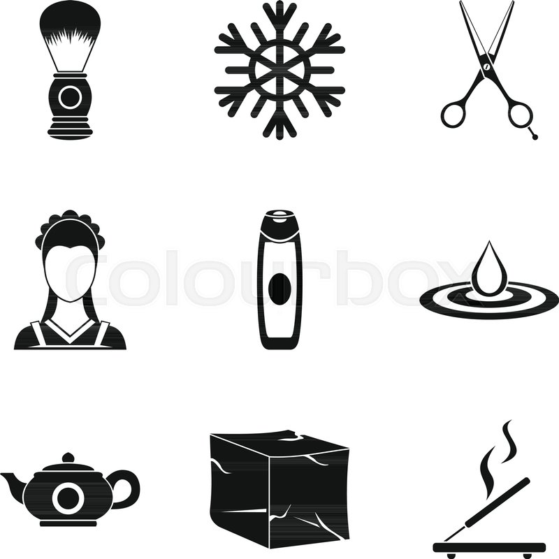 body clean icons set simple set of 9 body clean vector icons for