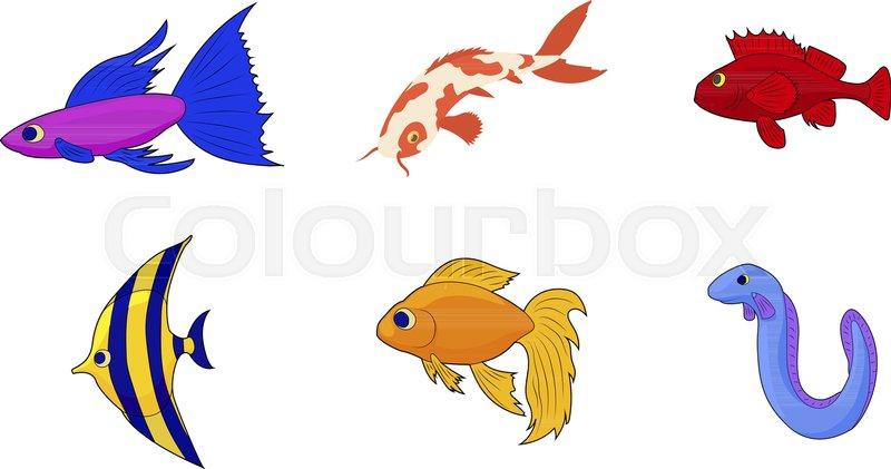Aquarium Fish Icon Set Cartoon Set Of Stock Vector Colourbox